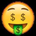 smiley with dollar sign eyes emoji