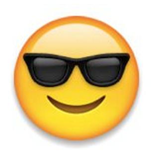 smiley with sunglasses emoji